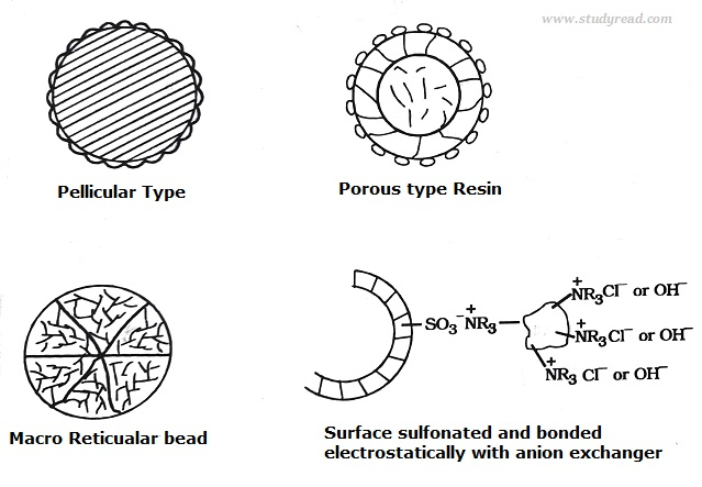 ion exchange resin structure