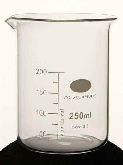 Lab Glassware with calibrations